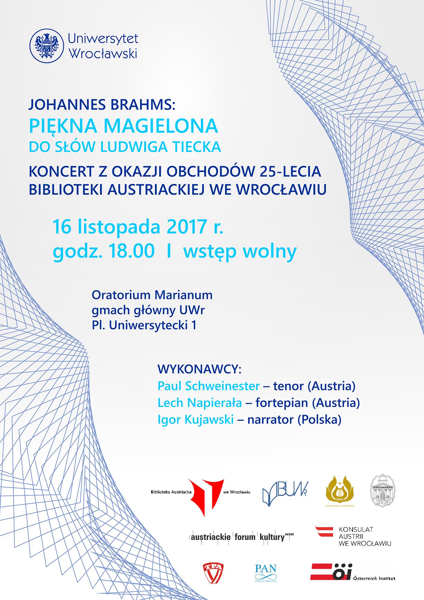 Zaproszenie Na Koncert Johannes Brahms Piękna Magielona