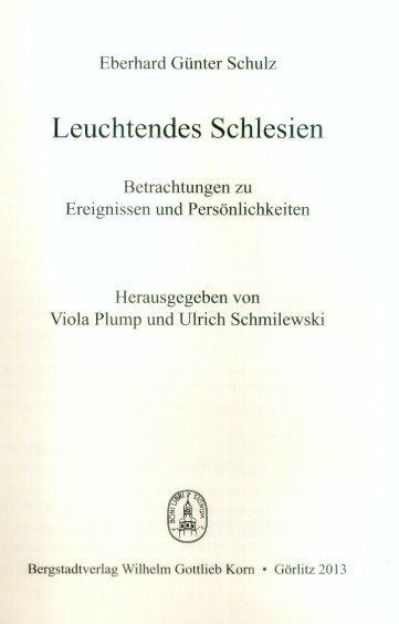 Leuchtendes Schlesien Betrachtungen Zu Ereignissen Und